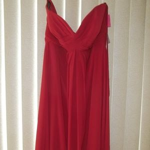 NWT! BARI JAY BERRY RED PROM/FORMAL GOWN SIZE 16